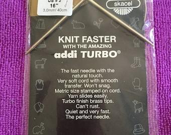 "US size 2, 16"" Addi Turbo circular knitting needle"