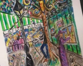 The Jackson Square Vibe Y'all original PeaceSwirl painting New Orleans artist