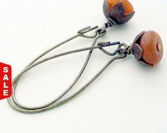 Beaded Drop Earrings, Autumn Earrings, Fall Earrings, Dangle Earrings, Beaded Earrings, Fall Jewelry, Gifts for Her, Boho dangle earrings
