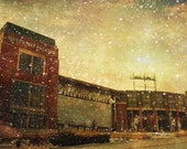 Lambeau Field, Packers Decor, Green Bay Packers, Packers Print, Large Wall Art Print, Man Cave, Packers Art, Frozen Tundra