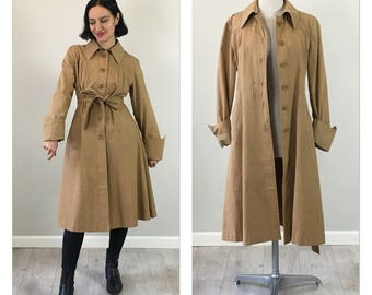 Vintage 70s Brown Trench Coat  S M