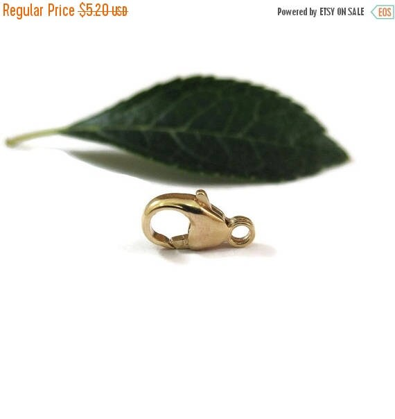 Summer SALEabration - One Gold Clasp, Lobster Claw, Medium 14k Gold Filled 11mm Lobster Claw, By The Piece, Gold Jewelry Findings, Bulk Jewe