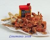 12th scale handmade dollhouse miniature Maryland Crab Feast