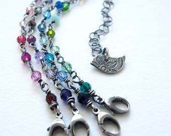 little bird bracelet with swarovski crystals - peace dove friendship bracelet