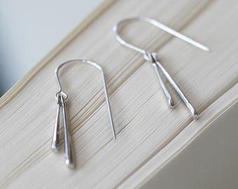 dreamers - simple silver drop earrings by elephantine