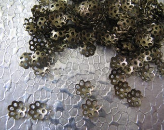 Bead Cap Brass Plated 6mm Bead Caps 400 Jewelry Findings