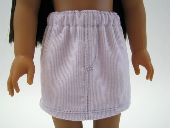 """Fits Like Wellie Wisher - 14"""" Doll Clothes - American Doll - 14 Inch Doll Clothes - Light Lavender Corduroy Skirt - Doll - A Doll Boutique"""