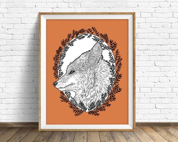 Red Fox - wall art print