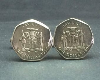 Jamaica coin cufflinks 21mm