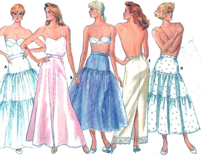 Petticoat slips Brides Rockabilly style wedding Lingerie Butterick 4407 sewing pattern Sz 8 to 12 or size 14 to 18 UNCUT