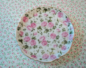 "Pink Rose Decorative 5"" Plate"