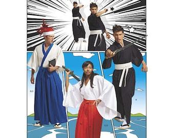 Hakama Pants McCalls 7525 Kimono Top Cosplay Dragon Ball Z Martial Arts Costume Pattern Size XS-XL
