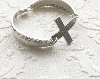 Spoon handle cross bracelet