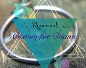Reserved for Diana 18K Solid White Gold Cartilage Hoop with 2.5mm Sparkling Diamond