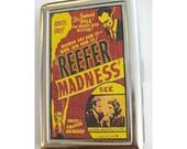 Reefer Madness metal wallet retro vintage pot propaganda cigarette case kitsch