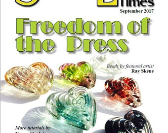 Sept 2017 Soda Lime Times Lampworking Magazine - Pressed Beads - (PDF) - by Diane Woodall