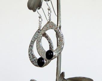 Onyx Earrings Sterling Silver Dangle Earrings Black Onyx Earrings Handmade Earrings Gemstone Earrings Gift For Her Silver Onyx Earrings