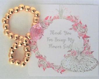 Flower Girl Gift, Flower Girl Bracelet, Children's Jewelry, Girls Bracelet, Girls Jewelry, Wedding Jewelry, Wedding Thank You