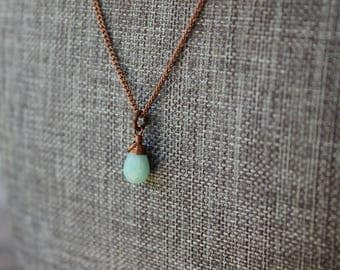 Amazonite and Copper Necklace