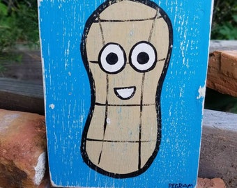Peanut Folk Art on Wood