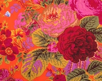 2 yards Grandi Floral in tomato, from the Kaffe Fassett collection