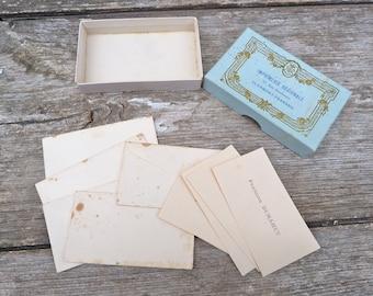 Vintage 1900 French Visit cards cardboard box