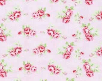 FAT QUARTER - Tanya Whelan Fabric, Rambling Rose, Rosebud, Pink Floral cotton quilting fabric