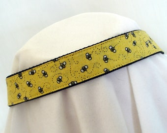 Bumble Bee Dog Collar - Medium to Large Dog Collar - 1 Inch Wide - Adjustable Between 14-24 Inches - Bumblebee - Bumblebees - READY TO SHIP
