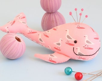 whale pin cushion, whale sewing pattern, whale pincushion, pin cushion pattern,whale plush, felt whale, whale toy, whale softie, pin cushion