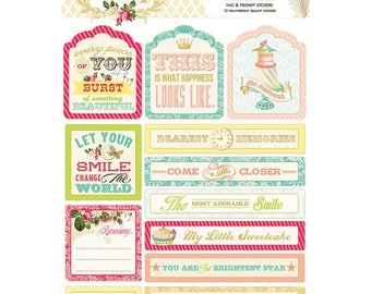 ON SALE Webster's Pages Postcards From Paris II Tags & Prompts Stickers