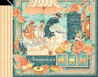 NOW ON SALE Graphic 45 Cafe Parisian Scrapbook Paper