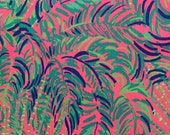 "pink sunset coco breeze dobby cotton fabric square 18""x18"" ~ lilly spring 2018 ~ lilly pulitzer"
