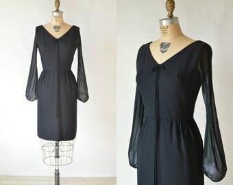 20% OFF Vintage Black Dress --- 1960s Ann Barry Jr Cocktail Dress