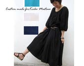 Custom Made Comfort Cotton Maxi Dresses for Keiko Matsuo