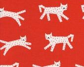 Cotton + Steel Fabric, Snow Leopard, C5134-001 Red, 100% Unbleached Cotton