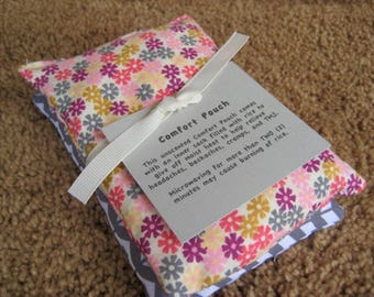 Two Rice Bag Pouches--Hot and Cold Packs--Gift Set