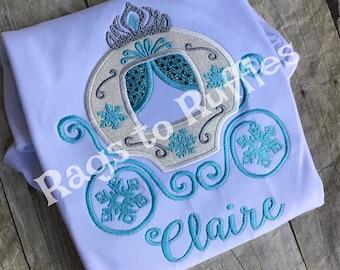 Princess Carriage Shirt- Personalized Princess Shirt - Personalized Carriage Shirt - Elsa Inspired Shirt