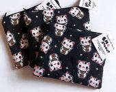 Lucky Cat Maneki Neko Zipper Pouch - Coin Purse