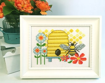 Busy as a Bee Cross Stitch Pattern Instant Download