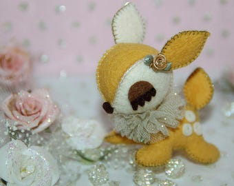 Lil Sweetheart - Bambi Addiction - Gold Yellow-Off White in Gold Details
