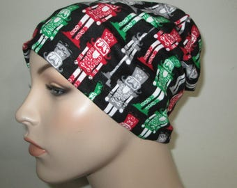 Chemo Nutcrackers Slouchy  Beanie  Hat Women's  Hat Play Sleep Cap, Cancer Hat, Alopecia   Chemo Hat