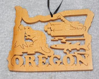 Wood State Ornament - Oregon