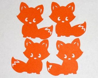 Fox Cardstock Confetti - Woodland Animal Confetti - Baby Shower Confetti - Party Decorations - Birthday Decorations - Fox Die Cuts
