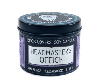 Headmaster's Office - 4 oz Book Lovers' Soy Candle -  Book Lover Gift - Scented Soy Candle - Frostbeard Studio