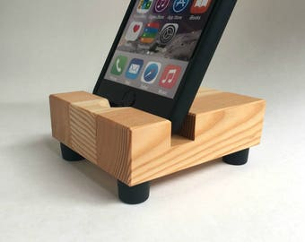 Wood iPhone Stand in Reclaimed Fir