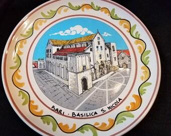 Vintage Souvenir Decorative Plate Basilica Saint Nicola