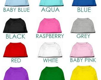BIG Blank Dog Shirts for printing, vinyl, embroidery --poly/cotton blend 4xl, 5xl 6xl -- Sleeveless Dog Tank