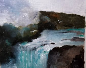 An Oft-Repeated Dream - Original Waterfall Oil Painting