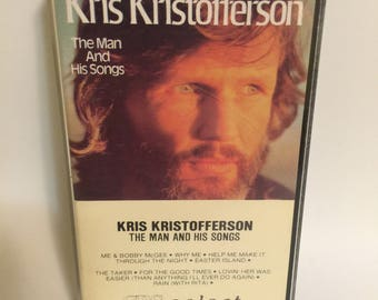 Kris Kristofferson Cassette Tape The Man and His Songs