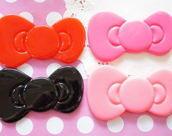 Clearance SALE 8 pc HUGE Bow Cabochon (48mm82mm) BW099
